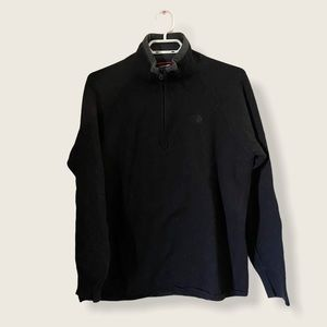 The North Face 1/4 Fleece Black Sweater Large